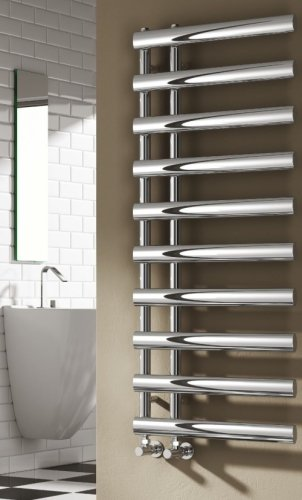 Reina Grace RND-GRC114C Chrome Towel Rail 1140 x 500mm