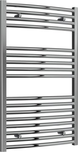 Reina Diva AG60100CC Chrome Curved Towel Rail 600mm x 1000mm