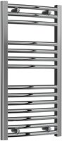 Reina Diva AG40800CC Chrome Curved Towel Rail 400 x 800mm
