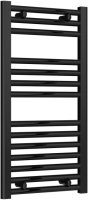 Reina Diva AG40800BF Black Flat Towel Rail 400mm x 800mm