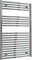 Reina Diva AG75120CC Chrome Curved Towel Rail 750mm x 1200mm