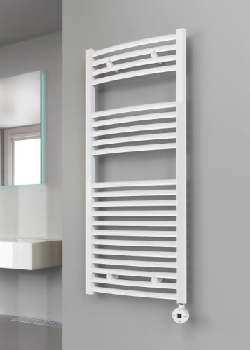 Reina Diva AG50180WC White Curved Towel Rail 500 x 1800mm