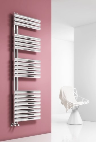 Reina Scalo RNS-SC508P Polished Stainless Steel Towel Radiator 500 x 826mm