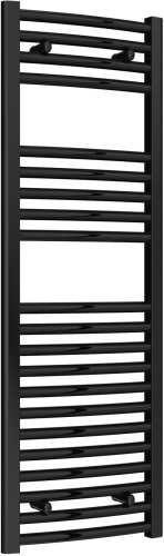 Reina Diva AG40120BC Black Curved Towel Rail 400 x 1200mm