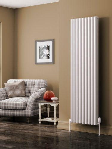 Reina Alco A-ALC180052W Vertical White Textured Aluminium Radiator - 520 x 1800mm