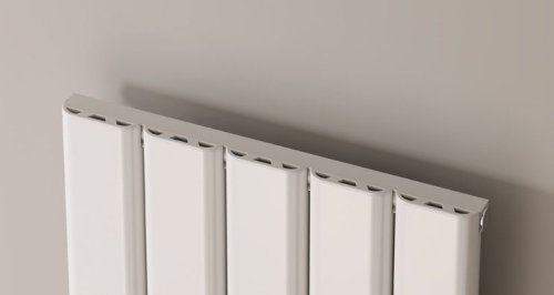 Reina Vicari A-VCR060120SW Single White Textured Horizontal Radiator 1200x 600mm