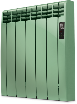 Rointe D Series DIA1210RNV Caribbean Green Satin Nickel 1210W Electric Radiator 11 Elements