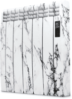 Rointe D Series DIA0550RMM Glacier White Marble 550W Electric Radiator 5 Elements