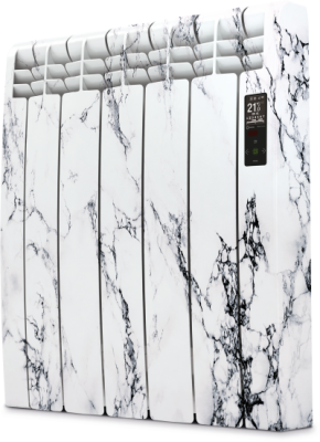 Rointe D Series DIA0770RMM Glacier White Marble 770W Electric Radiator 7 Elements