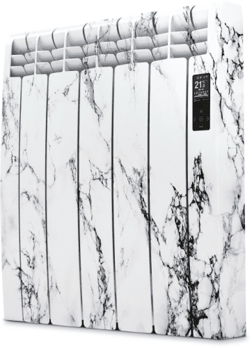 Rointe D Series DIA0990RMM Glacier White Marble 990W Electric Radiator 9 Elements