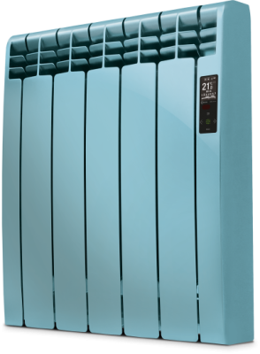 Rointe D Series DIA0550RNA Ocean Blue Satin Nickel 550W Electric Radiator 5 Elements