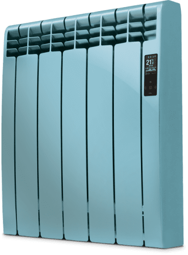 Rointe D Series DIA1430RNA Ocean Blue Satin Nickel 1430W Electric Radiator 13 Elements