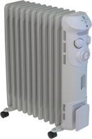 Prem-I-Air Grey Elite 2.5kW 11 Fin Oil Filled Radiator with Timer