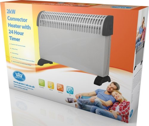 Prem-I-Air EH1890 2kW Convector Heater with 24hr Timer