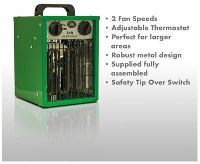 Prem-I-Air EH1904 2kW Industrial Fan Space Heater