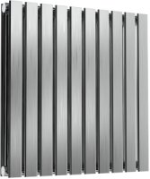 Reina Flox RNS-FTX060059DB Horizontal Double Brushed Stainless Steel Radiator 590mm x 600mm