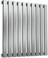 Reina Flox RNS-FTX060059SB Horizontal Single Brushed Stainless Steel Radiator 590mm x 600mm