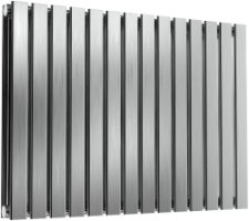 Reina Flox RNS-FTX060082DB Horizontal Double Brushed Stainless Steel Radiator 826mm x 600mm