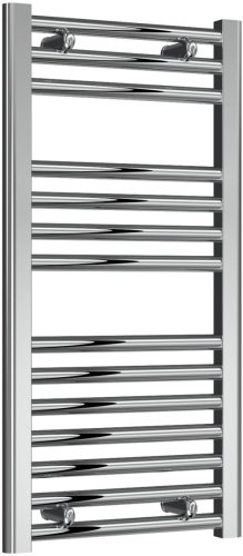 Reina Diva AG40800CF Chrome Flat Towel Rail 400mm x 800mm