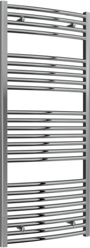 Reina Diva AG60140CC Chrome Curved Towel Rail 600 x 1400mm