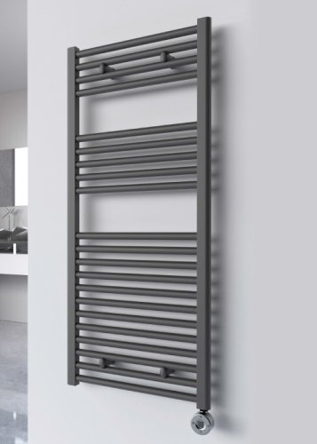 Reina Diva AG50180AF Anthracite Flat Towel Rail 500 x 1800mm