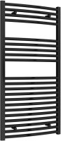 Reina Diva AG60120BC Black Curved Towel Rail 600mm x 1200mm