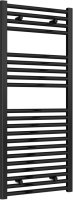 Reina Diva AG50120BF Black Flat Towel Rail 500mm x 1200mm