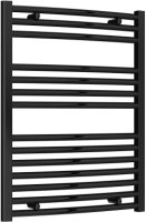 Reina Diva AG60800BC Black Curved Towel Rail 600 x 800mm
