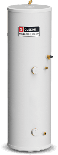 Gledhill Stainless Platinum Unvented 180 Litre Cylinder - Direct