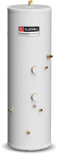 Gledhill Stainless Platinum Unvented 210 Litre Cylinder - Indirect