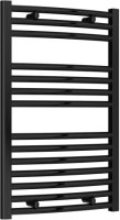 Reina Diva AG50800BC Black Curved Towel Rail 500 x 800mm