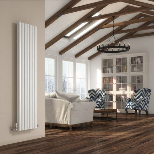 Reina Neva Single White Vertical RND-NV5315W 531 x 1500mm