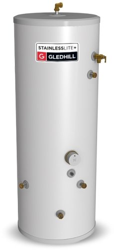 Gledhill StainlessLite Plus Unvented 120 Litre Cylinder - In-Direct Connection