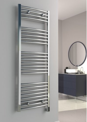 Reina Diva AG75120CC Chrome Curved Towel Rail 750 x 1200mm