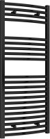 Reina Diva AG50120BC Black Curved Towel Rail 500 x 1200mm