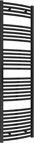 Reina Diva AG50180BC Black Curved Towel Rail 500 x 1800mm