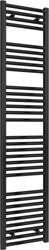 Reina Diva AG40180BF Black Flat Towel Rail 400 x 1800mm