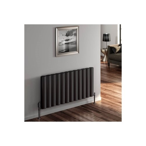Reina Belva A-BLV060082DA Double Anthracite Horizontal Radiator - 828 x 600mm