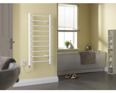 Creda CLR10W Flat Ladder White Towel Rail 992mm