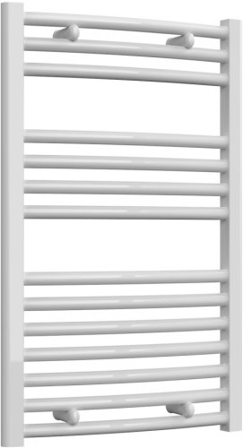 Reina Diva AG50800WC White Curved Towel Rail 500 x 800mm