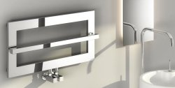 Reina Breno RND-BO1 Chrome Towel Rail 700 x 350mm