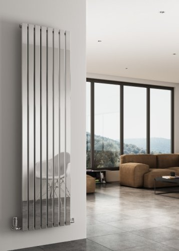 Reina Flox RNS-FTX180041SB Vertical Single Brushed Stainless Steel Radiator 413mm x 1800mm