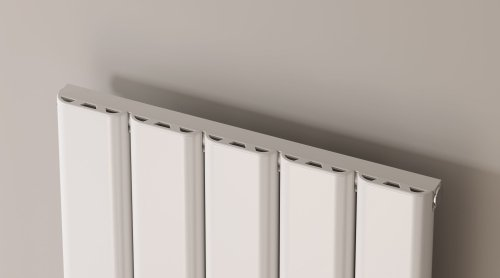 Reina Vicari A-VCR180030SW Single White Textured Vertical Radiator 300 x 1800mm