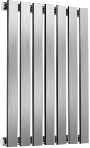 Reina Flox RNS-FTX060041SB Horizontal Single Brushed Stainless Steel Radiator 413mm x 600mm