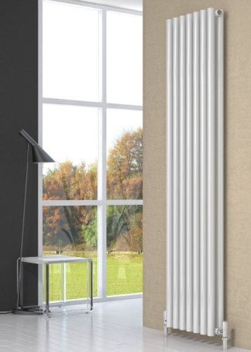 Reina Round RND-RN4118WD Double White Vertical Radiator 413 x 1800mm