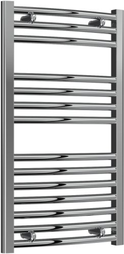 Reina Diva AG45800CC Chrome Curved Towel Rail 450 x 800mm