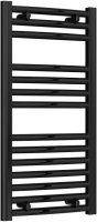 Reina Diva AG40800BC Black Curved Towel Rail 400mm x 800mm