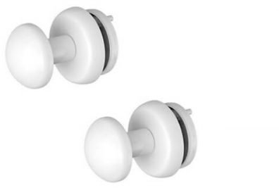 Rointe Kyros RSHW001 White Towel Rail Hangers 35mm