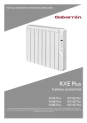 Elnur RXE Plus Installation Instructions & User Guide