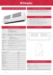 Dimplex AC3RE Specification Sheet